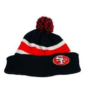 NFL San Francisco 49ers Fringe Pom Pom Beanie
